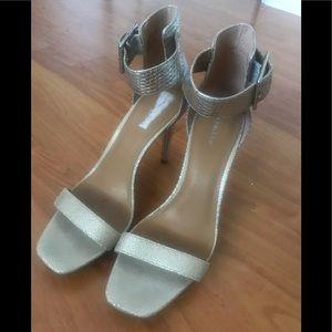 Beautiful Silver high heel shoes.